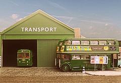 Chelsham LT Garage (kingsway john) Tags: london transport bus garage cm chelsham country rf rt diorama model kingsway models 176 scale efe diecast londontransportmodel oo gauge miniature