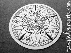 A little Zendala practice.... (hesedetang *) Tags: zentangle zentangles zendala hesedetangdoodles hesedetangtangles