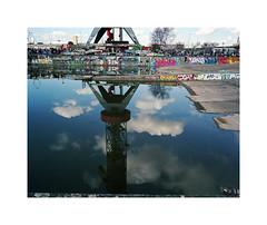 crane (ha*voc) Tags: urban reflection 120 film amsterdam mediumformat rangefinder 6x7 urbanfragments 65mm mamiya7ii