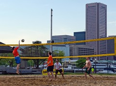 2016-05-02 BBV Men's Doubles (8) (cmfgu) Tags: baltimore beach volleyball bbv md maryland innerharbor rashfield sand sports court net ball outdoor league athlete game mens doubles twos 2s craigfildesfineartamericacom