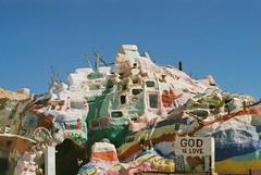 (Electric Fantastic) Tags: mountain film 35mm desert god salvation saltonsea salvationmountain