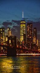 Downtown Manhattan from Brooklyn side (HDR) (Carlos E. Gmez) Tags: world park newyorkcity bridge newyork vertical brooklyn photoshop angle sony wide center cc brooklynbridge trade hdr downtownmanhattan flickrunitedaward sonyalphaslta55v carlzeiss1680mmf3545zalens