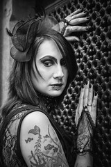 Shooting - Abysse 004 (Thomas Mathues) Tags: portrait cemetery graveyard dark model photoshoot mourning belgium belgique tomb gothic goth shooting widow gothique tombe cimetire modle hainaut