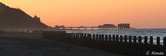 Cromer Pier. (fender bassman) Tags: sea england canon evening coast pier norfolk cromer overstrand