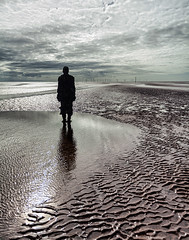 Statue on Beach (Rachel Dunsdon) Tags: man beach statue antony gormley crosbybeach