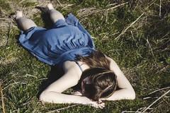 IMG_9504 (aishejonelle) Tags: blue trees portrait sky people green nature girl grass dress outdoor free preraphaelite