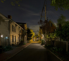 George Street Revisited ( estatik ) Tags: county street new city trees houses homes panorama usa brick church st night clouds america river dark stars point town george spring alley long exposure alone quiet nocturnal telephone united side small north perspective nj historic jersey mon poles states delaware monday exchange sidewalks nocturne squared residences lambertville revisited hunterdon coryell vanashing 5916 may92016