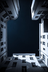Shadowy Classicism (Bunaro) Tags: sky building art architecture suomi finland helsinki cityscape outdoor sigma 24mm upward jugend shadowy classicism kaartinkaupunki 2414 yokfeed