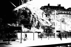 Gathering attention... (newshot.) Tags: street people station architecture zeiss dark scotland nikon edinburgh graphic pacific general grain streetphotography highcontrast atmosphere railway steam textures hidden blacks a3 locomotive gloom impression impressionistic brutal flyingscotsman massing lner standrewshouse edinburghwaverley planart1450 60103 d700 zf2 cascadingtones compositionalshapes thebordersscotsman