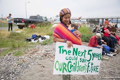 small mother and child at Indigenous Day Native March Break Free PNW 2016 photo taken by Alex Garland img_3055 (Backbone Campaign) Tags: water justice washington energy kayak break action politics protest creative paddle shell free social demonstration oil change wa environment activism anacortes campaign pnw refinery climatechange climate tesoro artful backbone renewable refineries 2016 kayaktivist kayaktivism breakfreepnw