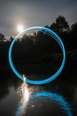 Circles on the water. (Nikolas Fotos) Tags: longexposure lightpainting reflection lichtmalerei lightart longexposurephotography llightpainting lightpaintingphotography peintureclaire
