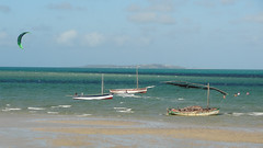 Dhows and Parasailer, Vilanculos, Mozambique (dannymfoster) Tags: africa beach mozambique dhow mocambique vilankulo vilanculos parasailng
