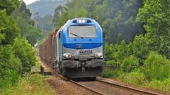 Comboio Internacional 48844 ( Comsa Rail 335-001 ) - Barroselas - Linha Minho (ruicmsilva) Tags: rio transport rail ponte madeira linha minho tuy locomotiva neiva barroselas comsa durrães 335001 celbi tertir