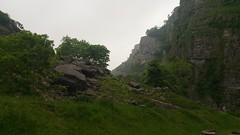 Cheddar Gorge (romany_dean) Tags: trees summer green nature clouds landscape rocks natural somerset cliffs climbing gorge bushes cheddar cheddargorge