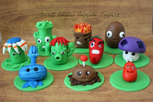 Plants Vs Zombies 2 Cake Decoration Cupcake Toppers Pvz A