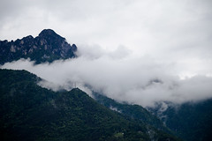 Into the clouds (DalbiTV) Tags: blue cloud mountain mountains colors beautiful beauty clouds canon colours air full cielo bubble albero montagna canoa