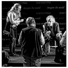 Intense (A.I.D.A.N.) Tags: blackandwhite monochrome festival photography blackwhite tents intense fuji photographer audience stage festivals seamus talk tent event views argument fujifilm conversation discussion hay gesture hayonwye murphy opinions intensity fujifinepix discourse argue discuss hayfestival x100 opine photoborder seamusmurphy fujix100 fujixseries