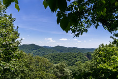 A view of Floyd County Kentucky from Keyhole Rock (sallydillo1) Tags: mountains horizon watergap floydcounty prestonsburg prestonsburgky keyholerock explorekentucky hikekentucky exploreky hikeky