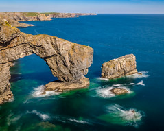 Green Bridge of Wales (hemlockwood1) Tags: green bridge pembrokeshire wales stack olympus national park coastal path seascape high quality photograph western telegraph pictures ocean castlemartin