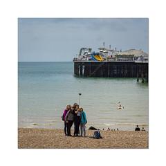 25/52: Friends (hehaden) Tags: friends sea sky beach square sussex pier brighton pebbles brightonpier selfie palacepier selfiestick 52photos2016