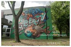 6972 (Massimiliano Fattizzo p.) Tags: street blackandwhite italy streetart milan colors graffiti colours milano colori