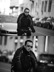 [La Mia Citt][Pedala] (Urca) Tags: portrait blackandwhite bw bike bicycle italia milano bn ciclista biancoenero bicicletta 2016 pedalare dittico 85564 ritrattostradale nikondigitalemir