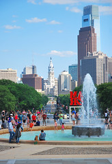 philly_view (akNY) Tags: city people art love philadelphia public water fountain skyline museum hall place cityhall amor rocky philly