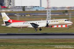HB-IZH - Saab 2000 - Etihad Rgional - CN 11 (Bastien Spotting Aviation) Tags: cn 2000 11 saab bastien etihad rgional hbizh engerbeau