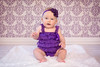 :: purple :: (mjcollins photography) Tags: baby cute love girl ruffles infant purple sweet headband 6months