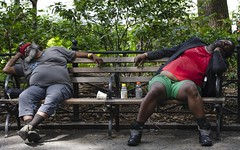 Sleeping guys NY (Will Margett Photography) Tags: park bench newyork sleeping candid nikon d7000 topv555 digital