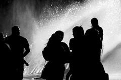 Street shot Munich I (Wackelaugen) Tags: street people blackandwhite bw white black water canon munich photography eos photo blackwhite silhouettes explore googlies explored wackelaugen