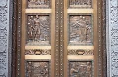Bank Door Quotes Yeah Right! (Orbmiser) Tags: winter oregon portland golden nikon doors scrollwork bank relief brass sculpted d90 55200vr
