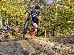 Cyclo-Cross Deutschland-Cup in Kleinmachnows Kiebitzbergen in der Nähe von Berlin. Germany's Cyclo-Cross Cup near Berlin. RiderRacer.com