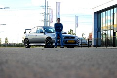 Subaru Impreza Turbo GC8 WRX (SpookPictures) Tags: pictures blue classic netherlands look sedan boer stars grey moving cool shot 5 steel spokes turbo 25 subaru gt jordi impreza wrx sti rolling spook the drak gtt drey gc8 86f 25stars stars25 spookpictures