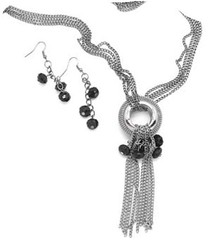 5th Avenue Black Necklace P2140A-4