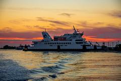 Cape May Lewis Ferry (Daveyal_photostream) Tags: ocean sunset sunlight seascape beach nature beautiful beauty ferry photoshop golden newjersey nikon ship wave stunning capemay mast sunsetting d600 capemaynewjersey goldenwater nikor awesomeshots mycamerabag mygearandme meandmygear
