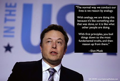 The Genius Way Elon Musk Thinks, Demonstrated With One Quote (exploringmarkets) Tags: cars google technology tech quotes elon musk videos tesla startups youtube spacex pictar