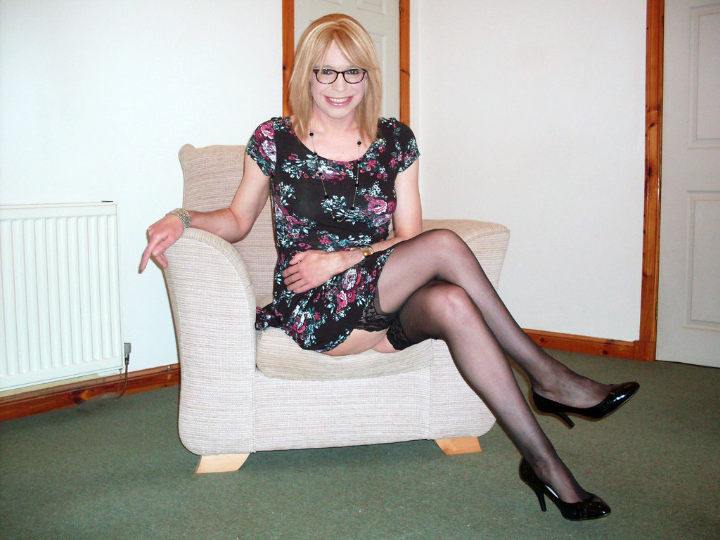 Crossdressed in pantyhose pity, that