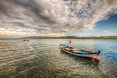 A boat (Nejdet Duzen) Tags: trip travel sea turkey boat cloudy türkiye deniz iskele sandal hdr izmir tatil turkei holidat seyahat urla bulutlu