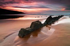 Barinatxe Sunset (BIZKAIA) (Jonatan Alonso) Tags: longexposure seascape beach landscape bizkaia basquecountry sopelana barinatxe sopela