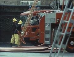 ERF 84PF  Fire appliance  London Fire Brigade (seacoaler) Tags: london truck fire tv engine pump burning lorry series tender appliance londons brigade itv lfb