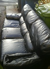 a86 (davy1982) Tags: leather sofa rubbish torn waste trashed settee