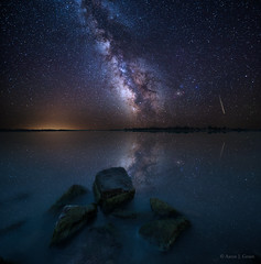 Looking at the Stars (HomeGroenPhotography) Tags: longexposure nightphotography sky reflection night southdakota stars nightscape astrophotography milky meteor milkyway nightlandscape milkywaystars astrophotographer aaronjgroen southdakotastars milkywayscape