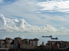 balcorama 14 Novembre ore 12.30 (fotomie2009) Tags: sea sky italy clouds boats riviera italia nuvole mare liguria cielo navi ligure savona ponente