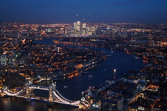 Looking East towards Canary Wharf from The Shard (Mark Bowerbank) Tags: from looking east wharf canary shard towards the
