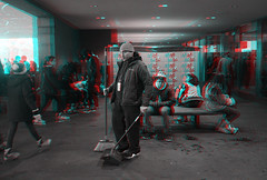 Anaglyph 3D [red/cyan] (DDDavid Hazan) Tags: winter ny newyork ice sports brooklyn iceskating skating prospectpark wintersports