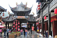 Wet but Wonderful . (john a d willis) Tags: china tibetans songpan sichuan jinan classicalchinesearchitecture