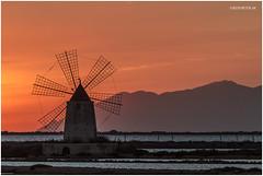 Windmill (True colors) (Mario Vani) Tags: sunset italy landscape italia tramonto sicilia paesaggio mulino