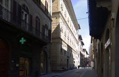 Alberti, Palazzo Rucellai, oblique view