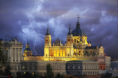 Catedral de la Almudena, Madrid (german_long) Tags: madrid lighting longexposure espaa storm church night spain europe almudena catedral catedraldelaalmudena earthnight